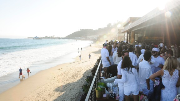 Many actors, rock stars and power players in the entertainment industry maintain Malibu beach houses or sprawling estates in the hills overlooking the Pacific. Malibu is also home to parties that attract a celebrity crowd, such as this July 4 celebration at Nobu Malibu hosted by Bootsy Bellows, actor David Arquette's L.A. nightclub.