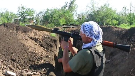 Modern-day trench warfare in Ukraine