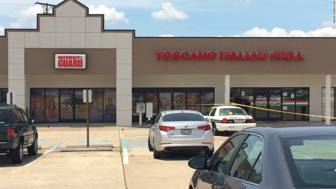 The gunman first opened fire at this military recruitment office located in a strip mall off Lee Highway in Chattanooga.