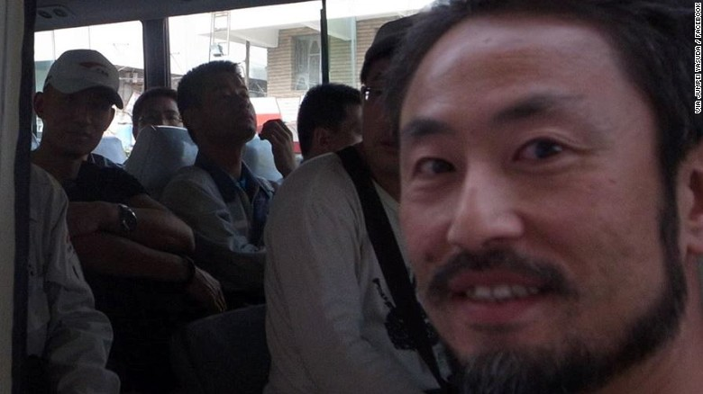 Missing Japanese journalist Jumpei Yasuda.