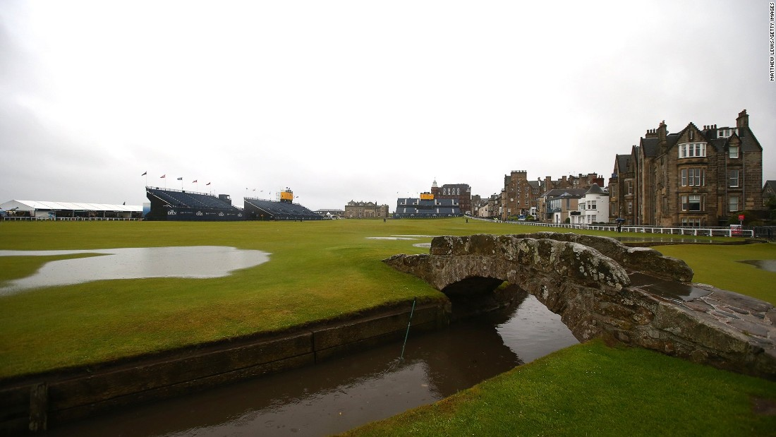 "Huge puddles of water were dotted all over the Old Course, but Peter Dawson, Royal and Ancient chief executive wasn't overly concerned. ""This is a very sandy golf course and once it starts to drain you will find it dries very quickly,"" Dawson told BBC Scotland."