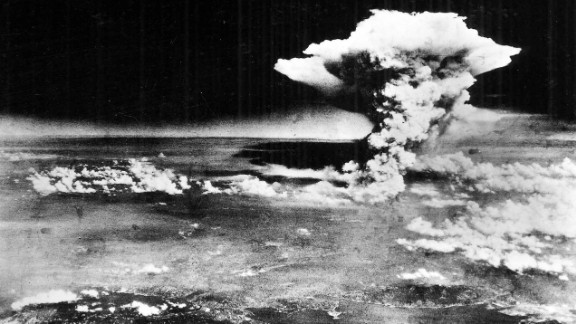 """An aerial photograph of Hiroshima shortly after the atomic bomb, nicknamed """"Little Boy,"""" was dropped."""