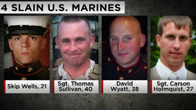 4 Marines killed in Chattanooga identified
