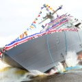 USS Little Rock launch