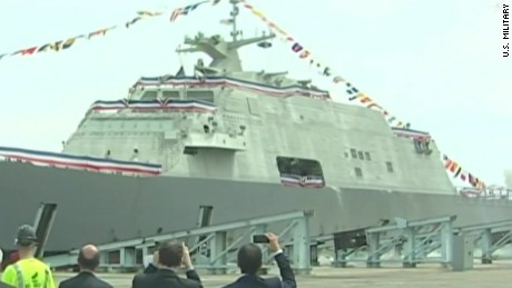 Navy launches newest combat ship