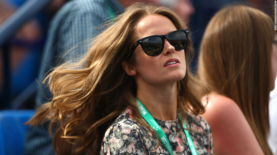 Andy Murray's wife Kim was among the watching fans.