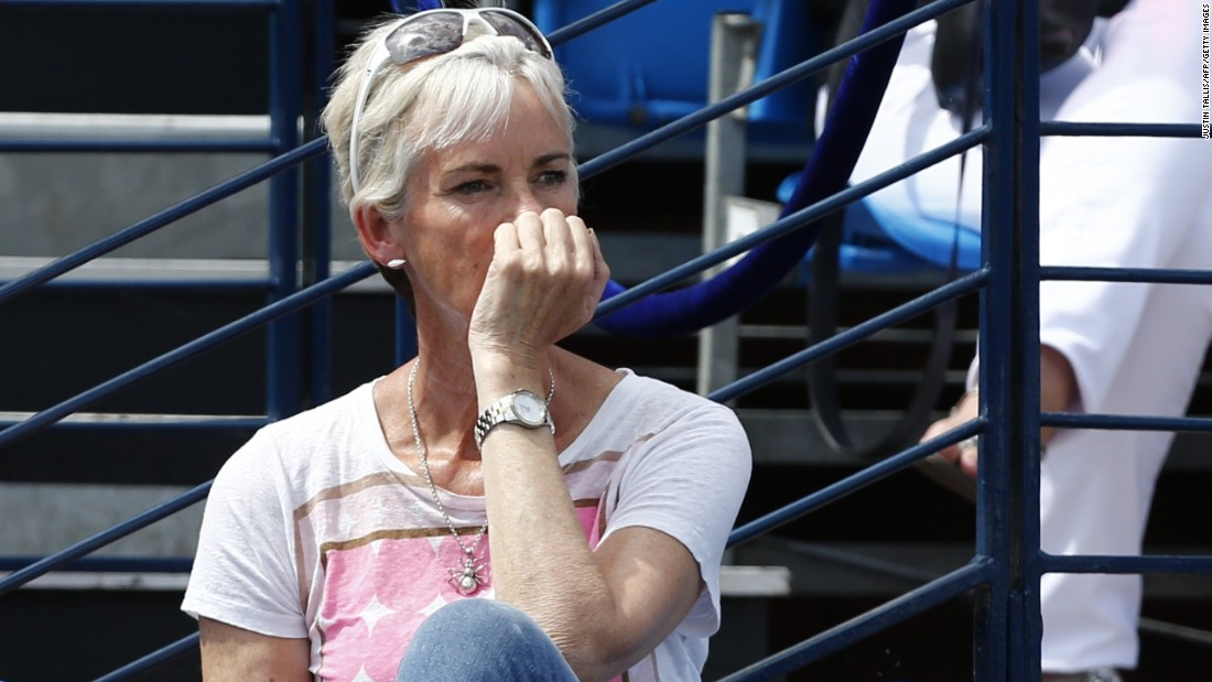 Jamie and Andy's mom Judy Murray, who coaches the GB women's Fed Cup team, was also in attendance.