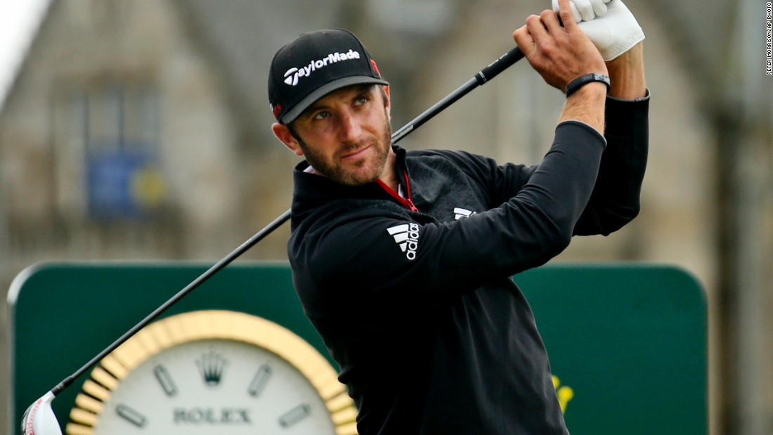 Third round leader Dustin Johnson fell away Sunday with a third round 75.