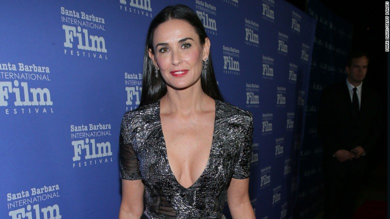 Demi Moore attends a 2014 event honoring Jessica Lange held at the Bacara Resort in Goleta, California.
