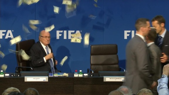 sepp blatter Lee Nelson cash throw sot _00002624.jpg