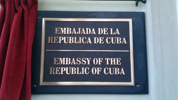 Cuban Embassy sign