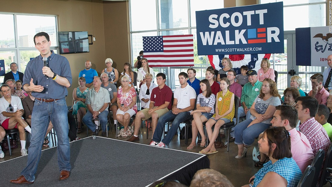Wisconsin Gov. Scott Walker, Republican, who has dropped out of the presidential race.