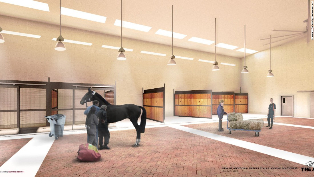 The ARK will also house equine facilities to handle the care of horses being imported and exported.