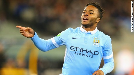 Sterling scored his first goal for City since moving from Liverpool.