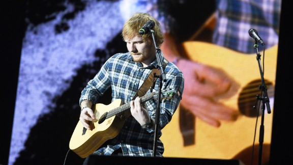 "Best male video: Ed Sheeran (pictured), ""Thinking Out Loud""; Mark Ronson feat. Bruno Mars, ""Uptown Funk""; Kendrick Lamar, ""Alright""; The Weeknd, ""Earned It""; Nick Jonas, ""Chains."""
