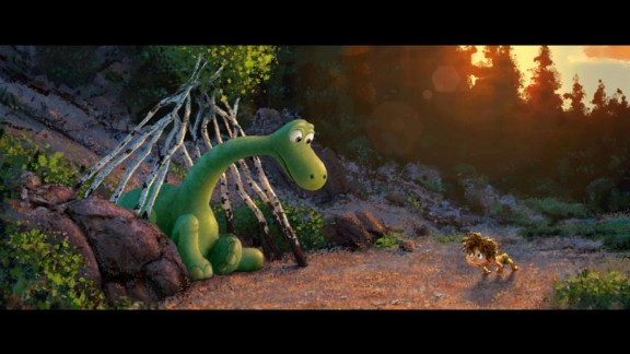 """A lovable dino is the star of Disney-Pixar's """"The Good Dinosaur,"""" which takes place in a world where dinosaurs never went extinct. Click through for more movie dinosaurs."""