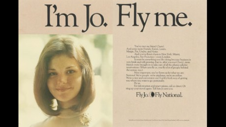 "National Airlines' ""Fly Me"" ad campaign in the '70s sparked protests by the National Organization for Women."
