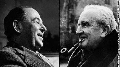 C.S. Lewis, left, and J.R.R. Tolkien both fought in the trenches in France.