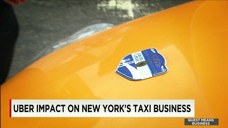 Uber impact on New York's taxi business