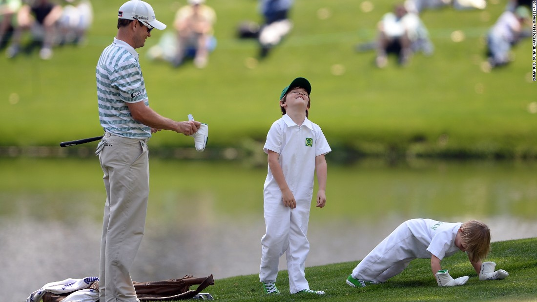The following year his sons Will and Wyatt caddied for him at Augusta's pre-tournament Par 3 event.