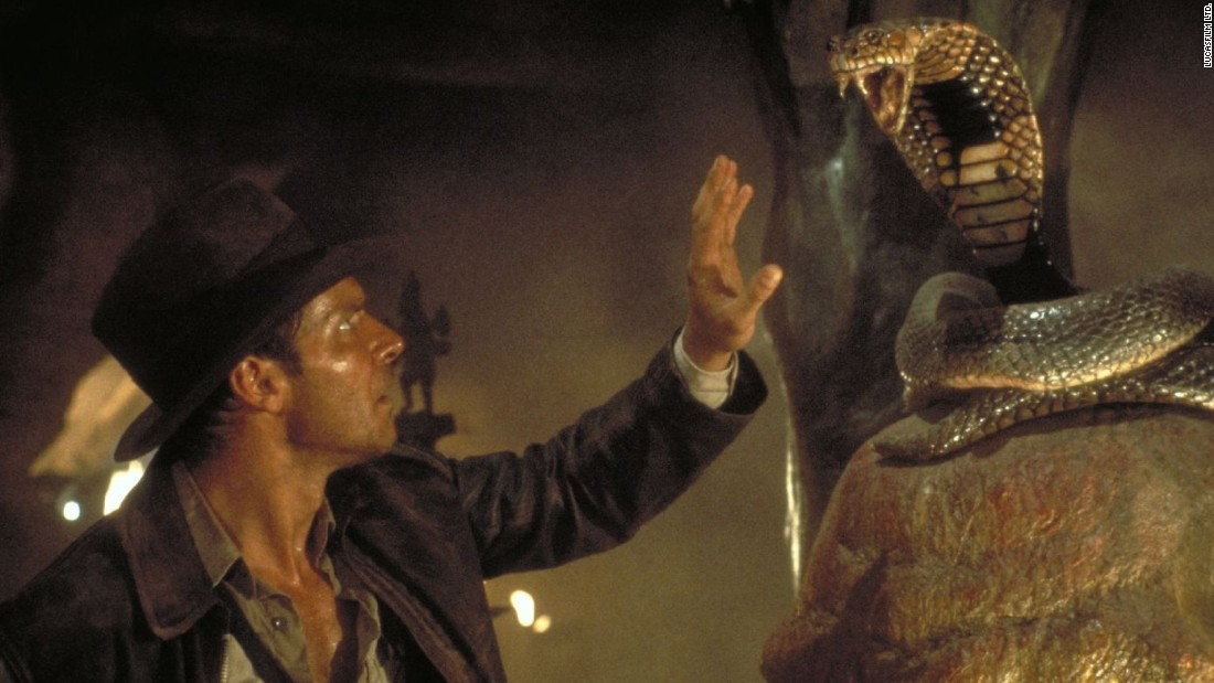 "Director Steven Spielberg and star Harrison Ford reunited for 1984's ""Indiana Jones and the Temple of Doom,"" the second in the iconic Indiana Jones series."
