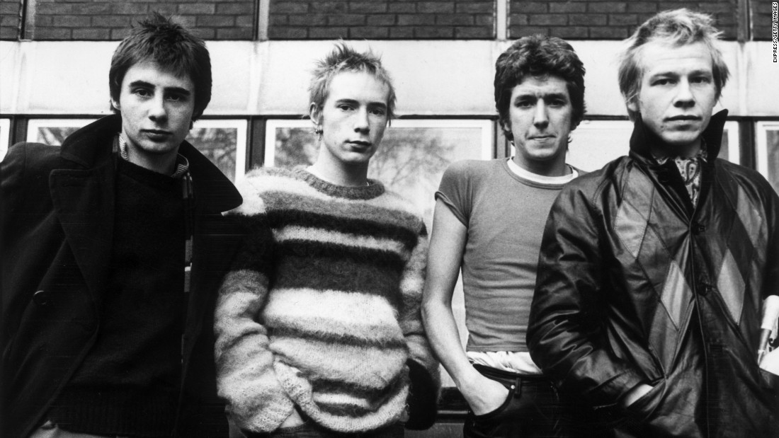 "This British punk-rock band burst onto the scene in 1977 with declarations of ""Anarchy in the U.K."" and ""no future in England's dreaming."" Its anti-establishment antics paved the way for bands like The Clash, The Runaways and the Dead Kennedys."