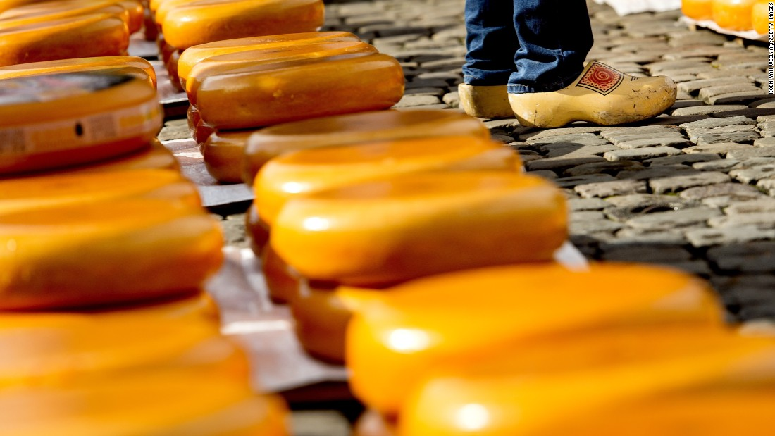 Gouda is named for the Dutch city from which it is produced. It is one of the world's most popular cheeses.