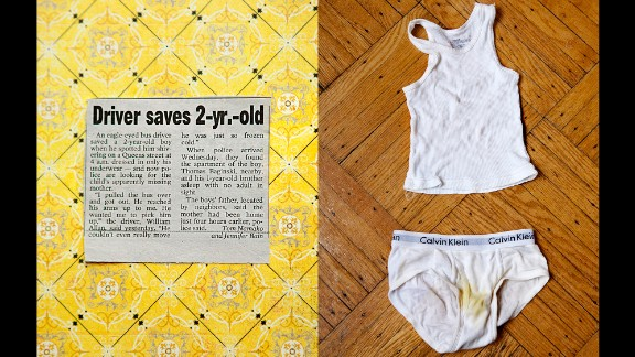 At right is the underwear Thomas was said to be wearing on the night he was found on the streets. At left is the story from the New York Post.
