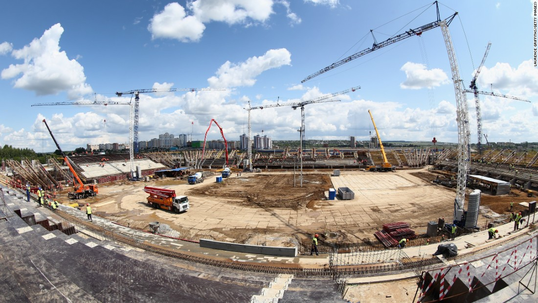 A new, state-of-the-art, 40,000-capacity stadium is being built in Saransk in central Russia.
