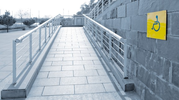 Many of us take them for granted now. But one of the most visible changes mandated by the ADA was the addition of wheelchair-accessible ramps to buildings.