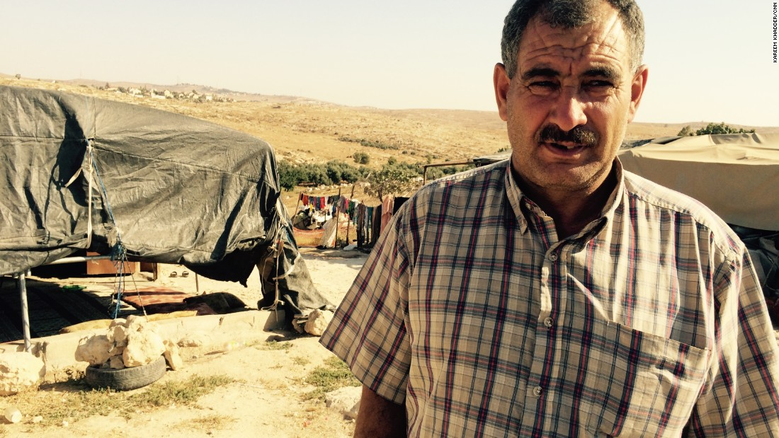 "Jihad Nawaja is head of Susiya's village council. ""What are we supposed to feel when someone is about to demolish your belongings and your home?"" he asks."