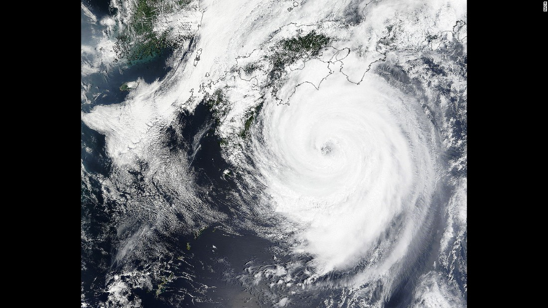 Slow-moving Typhoon Nangka made landfall near Muroto on the Japanese island of Shikoku on July 16. The storm became a typhoon on July 4 and traveled nearly 4,000 kilometers (2,485 miles) across the Pacific Ocean. As the storm closed in, nearly 4,000 residents of Kochi Prefecture were urged to evacuate.