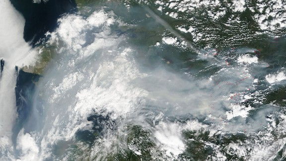 Fires have burned thousands of acres in Alaska. NASA