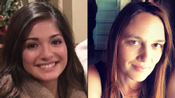 Mayci Breaux, left, and Jillian Johnson, victims from the Lafayette shootings.