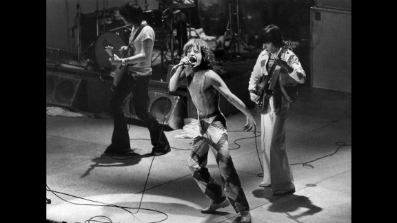 """One of the biggest bands of the '60s, the Rolling Stones continued their success in the new decade, beginning with their """"Sticky Fingers"""" album in 1971 and followed by their critically acclaimed """"Exile on Main St."""" in 1972. The band recorded Exile's songs while hiding out in a villa in southern France to avoid financial trouble. The album is considered by many to be the Stones' greatest."""