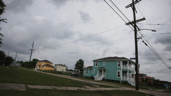 New homes stand in the Lower Ninth Ward on May 15, 2015.