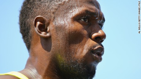 sain Bolt of Jamaica looks on after winning the 200m men final during the Adidas Grand Prix at Icahn Stadium on Randalls Island on June 13, 2015 in New York City.