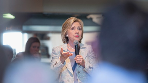 Hillary Clinton campaigns in Iowa on Sunday