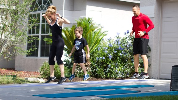 Chalk ladder agility exercises are fun and invigorating. You can do any number of hopping, sidestepping, skipping, etc., exercises. Santas