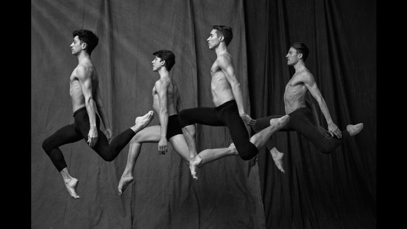 """Ballerinas may get all the press, but photographer Matthew Brookes focused his lens on the male dancers from the Paris Opera Ballet. Their portraits are featured in his upcoming book """"Les Danseurs."""""""