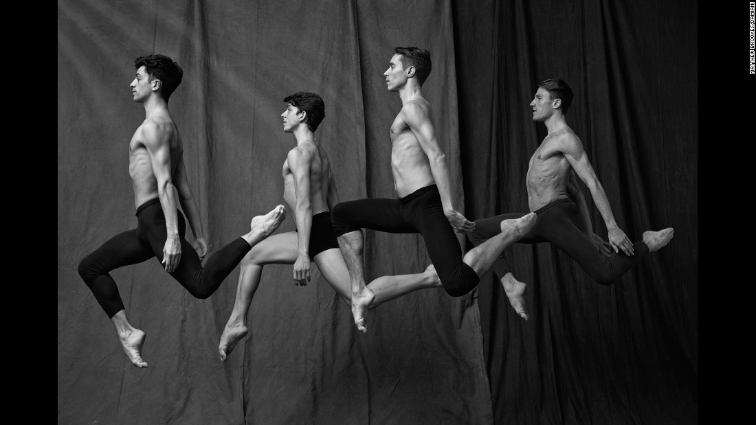 "Ballerinas may get all the press, but photographer Matthew Brookes focused his lens on the male dancers from the Paris Opera Ballet. Their portraits are featured in his upcoming book ""Les Danseurs."""
