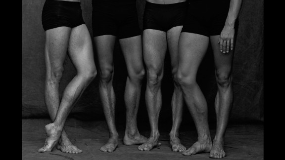 Brookes shot in black and white to accentuate the muscles and structures of the dancers