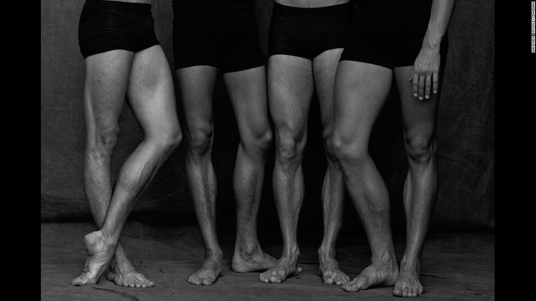 Brookes shot in black and white to accentuate the muscles and structures of the dancers' bodies.