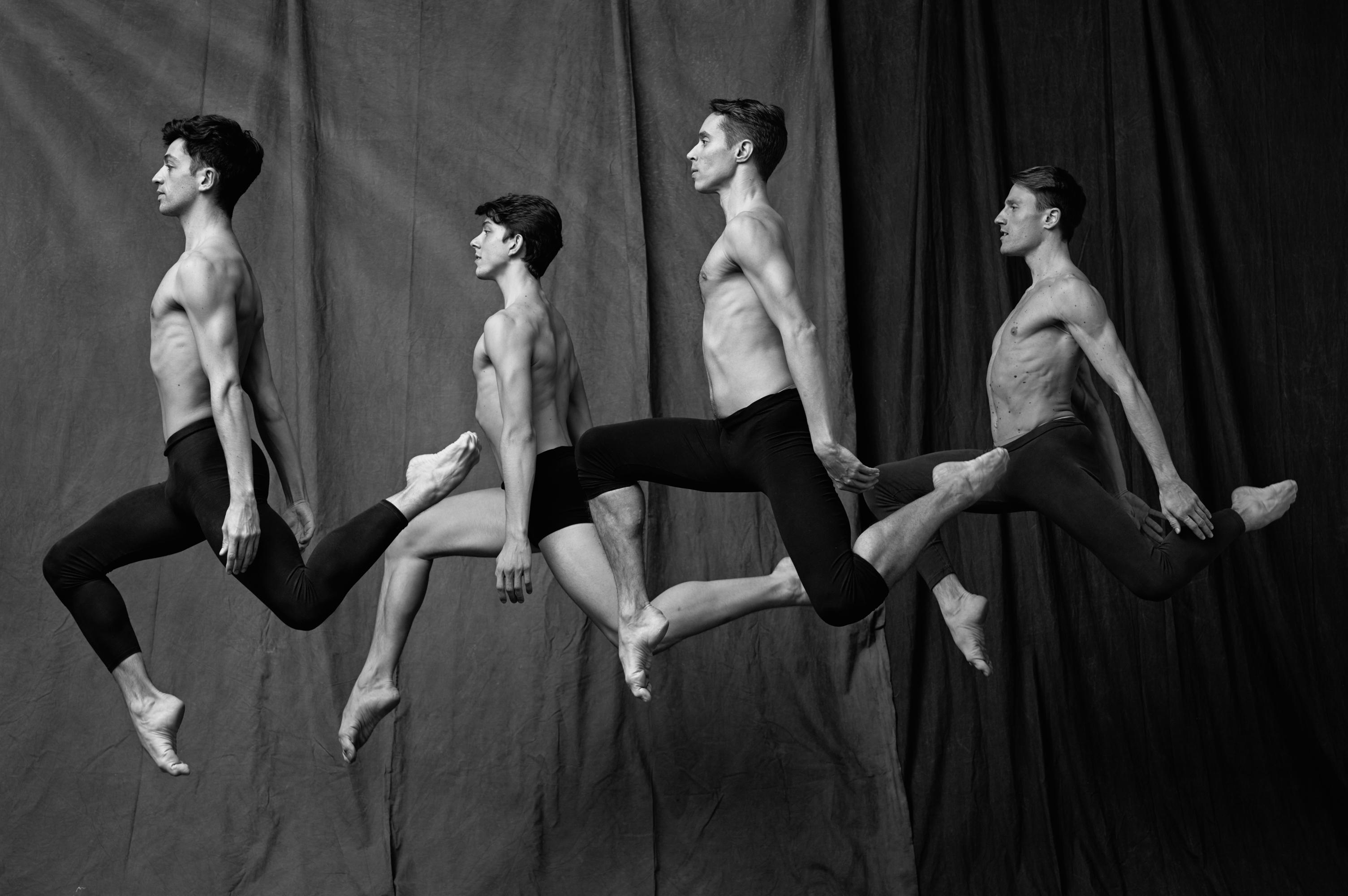 The men of the Paris Opera Ballet