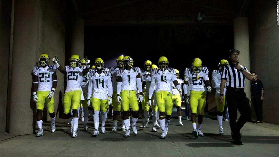 "Nike also outfits many college athletic programs, and its work with Oregon's football team helped make the program <a href=""http://espn.go.com/blog/colleges/oregon/post/_/id/128/nike-key-to-oregons-national-surge"" target=""_blank"">a recruiting powerhouse.</a>"
