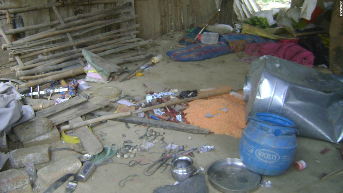 "Angry villagers ransacked Harijan's house after reports of his involvement emerged, police said. Kudiya village, in the Nawalparasi district bordering India, is home to some of the country's poorest and uneducated people -- often known as ""untouchables"" in the traditional caste system."
