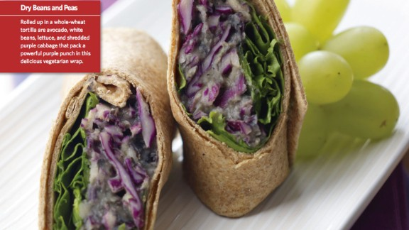 CLICK HERE FOR FULL RECIPE The power of purple cabbage combines with beans and some great spices to create this vegetarian wrap that