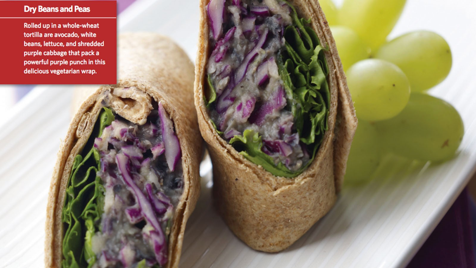 Purple Power Bean Wrap Top Recipe For School Lunches Cnn