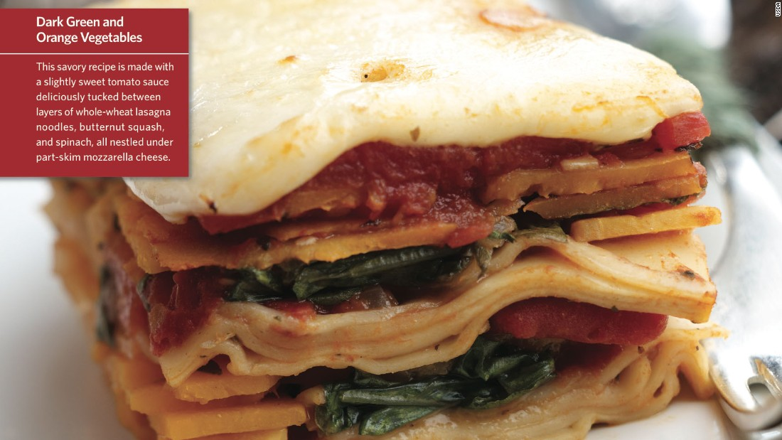"<a href=""http://www.cnn.com/2015/08/05/health/squish-squash-lasagna-kids-recipe/index.html""><strong>CLICK HERE FOR FULL RECIPE</a></strong><br />Another great name sure to please the kids--just don't let them try to ""squish""it with their hands while it's on the way to their mouths.  Chef Jeff Lindemeyer worked hard building this colorful lasagna to please the kids at Liberty Elementary School in Powell, Ohio."
