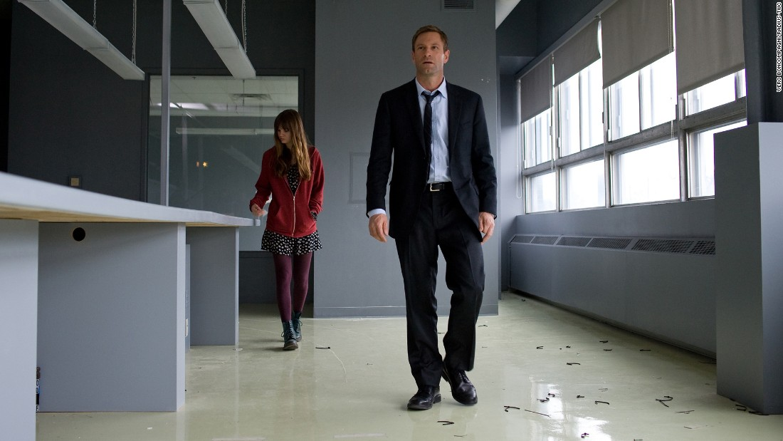 "<strong>""Erased""</strong>: A former CIA agent (Aaron Eckhart) and his daughter go on the run when they are marked for death in this thriller.<strong> (Amazon) </strong>"